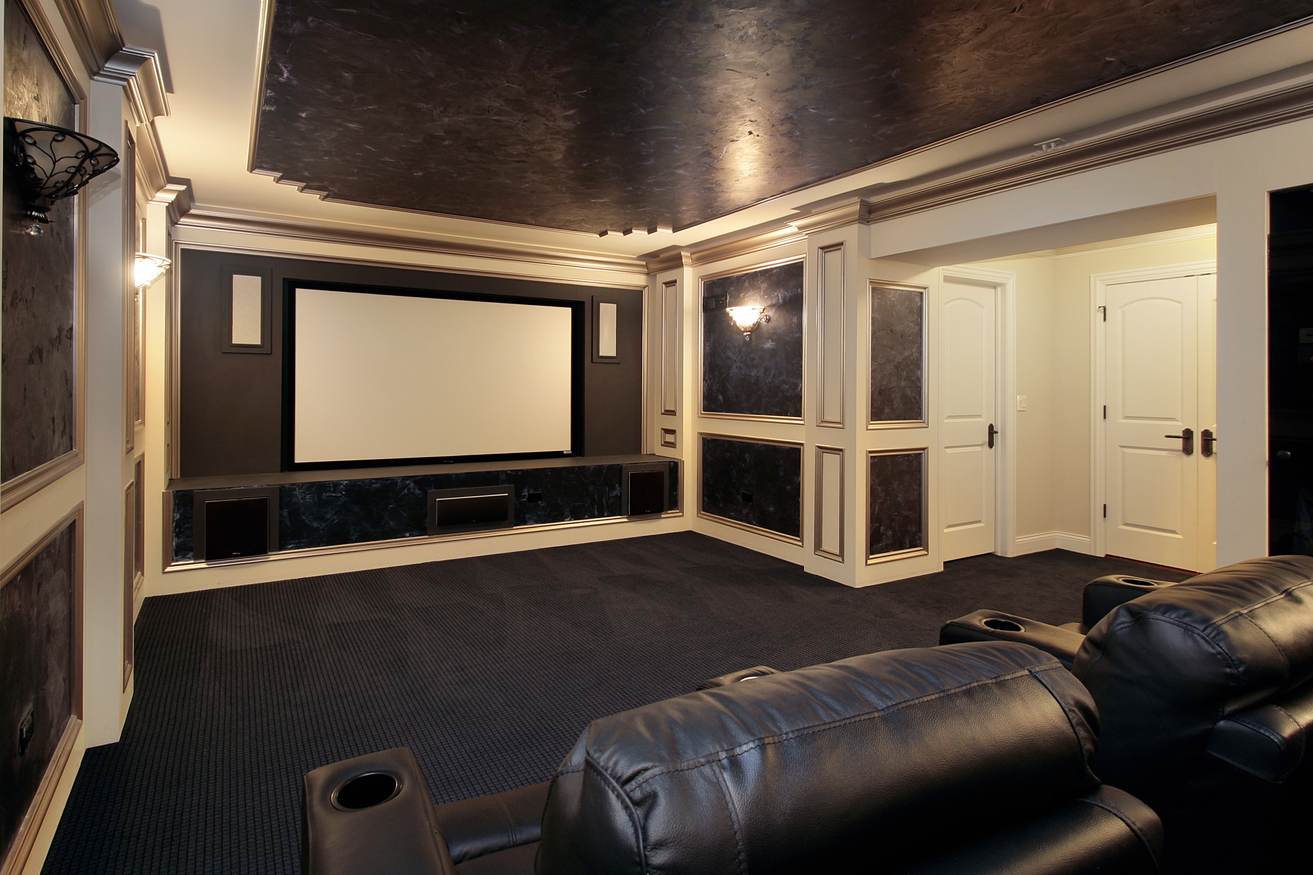 Home Theater Simply Wiring Commercial Charlotte Nc A Projection Tv Luxury Room